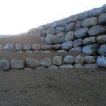 Granite retaining wall project