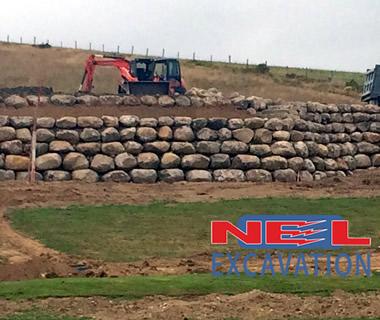 NEL Excavation rock walls
